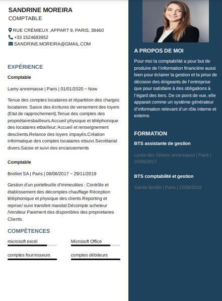 modèle CV de comptable à télécharger gratuitement