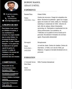 Exemple CV Français